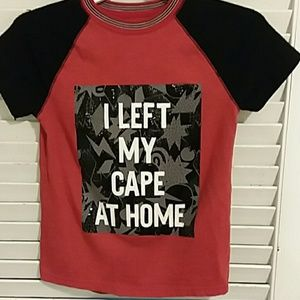 """Boys """"I Left My Cape at Home"""" T-Shirt Size 6-7"""